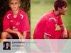 thumbs justin liten stor fotboll Justin som barn