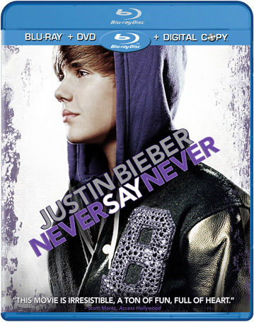 justin bieber never say never dvd Never Say Never DVD/Blu ray släpps 13 maj