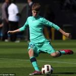 justin bieber fotboll barcelona 09 150x150 Fler bilder: Justin Bieber spelar fotboll med Barcelona