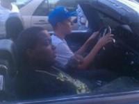 Justin Bieber och Sean Kingston stoppades av polis