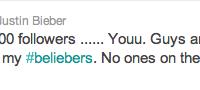 Bild: Bieber har nu 12 miljoner followers på Twitter