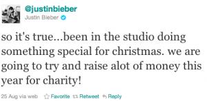 justin bieber julalbum 300x147 Justin Bieber spelar in julalbum