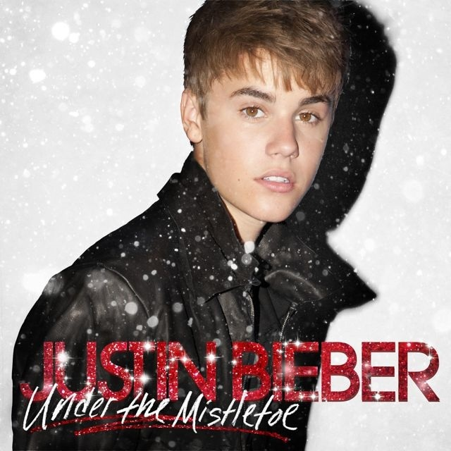 justin bieber under the mistletoe Justin Bieber Under The Mistletoe albumomslag