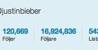 Bild på Justin Biebers Twitter