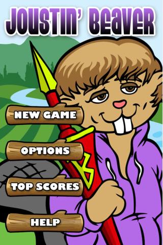 joustin beaver spel app Justin Bieber stäms av RC3 (Joustin Beaver)