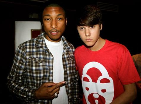 pharrell justin bieber Justin och Pharrell i studion  jobbar på Believe