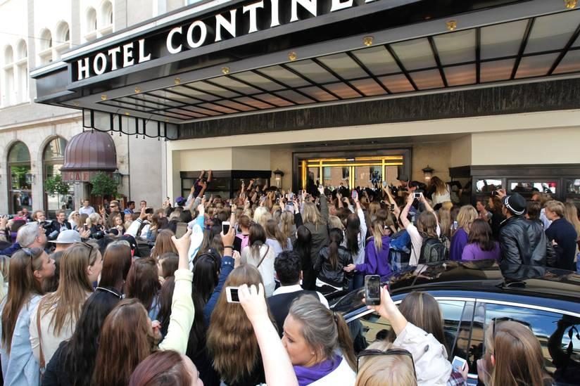 Kaos i Oslo Justin Bieber Justin Bieber Oslo Fans Hotell